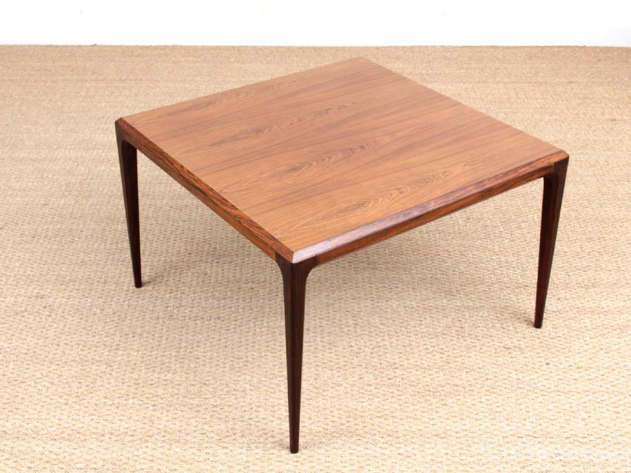 Mid Century Modern Danish Square Coffee Table In Rio Rosewood By