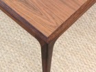 Mid-Century Modern Danish  square coffee table in Rio rosewood by Johannes Andersen