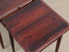 Mid-Century  modern scandinavian nesting tables in Rio rosewood by Poul Hundevad