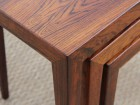 Mid-Century  modern scandinavian nesting tables in Rio rosewood by Severin Hansen