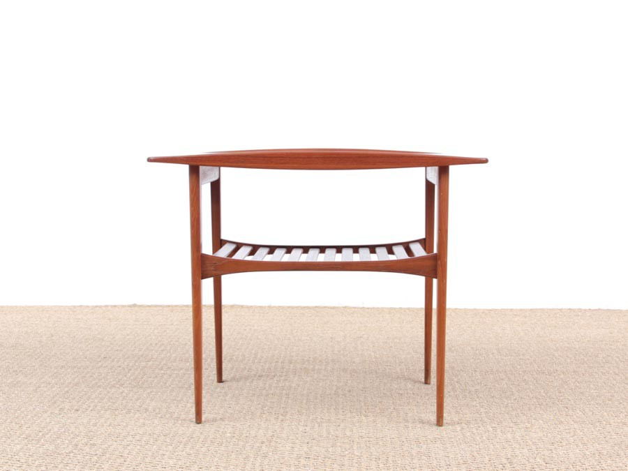 Mid Century Modern Side Table In Teak By Tove And Edvard Kindt Larsen Model