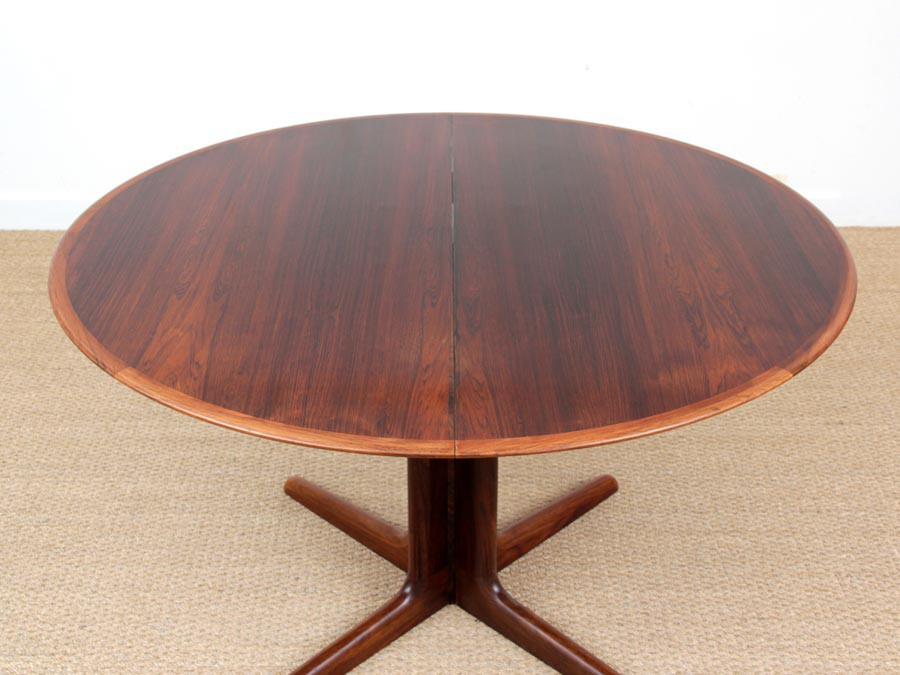 Mid Century Modern Scandinavian Round Dining Table In Rio Rosewood 6