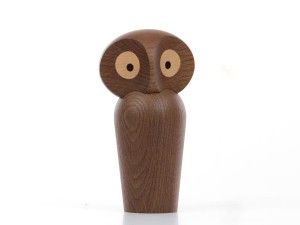 Large Owl in smaked oak by Paul Anker Hansen. New edition