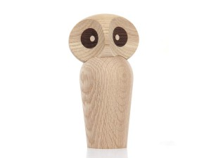 Large Owl in smoked oak by Paul Anker Hansen. New edition