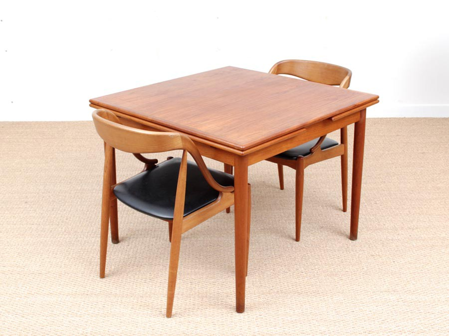 Mid Century Modern Scandinavian Square Dining Table 4 6