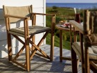 Mid-Century modern scandinavian outdoor dining chair in solid teak by Björn Hultén. Model Kryss. New edition.