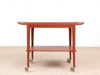 Mid-Century  modern scandinavian serving table in teak by Peter Hvidt