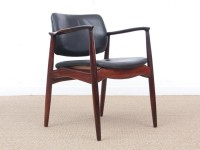 Mid-Century Modern Danish  desk chair in Rio rosewood model 66 by Erik Buck