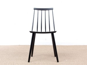 Mid-Century  modern scandinavian Stick Back chair by Thomas Harlev, black stain beech. New edition.