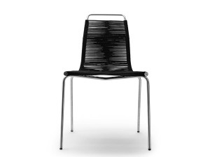 Mid-Century Modern PK 1 chair stainless steel by Poul Kjærholm.
