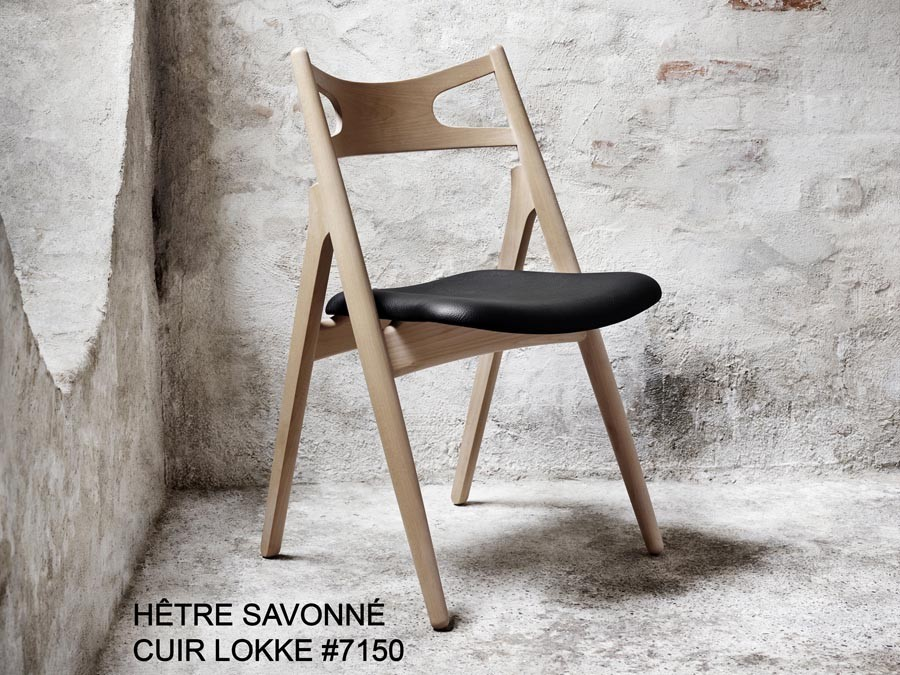 chaise scandinave modle ch 29 sawback rembourre edition neuve - Chaise Scandinave Rembourree
