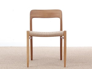Mid-Century Modern danish chair model 75 by Niels O. Møller. New production.
