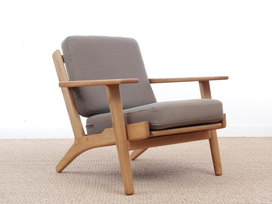 mid century modern pair of armchairs model ge290 by hans wegner for ama new release 2395
