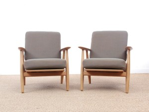 "Mid century modern armchair model ""Cigar"" GE 240 by Hans Wegner for Getama. New release."