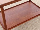 Mid-Century modern scandinavian serving cart in teak