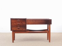 Mid-Century modern scandinavian planter table by Arne Wahl Iversen in Rio rosewood