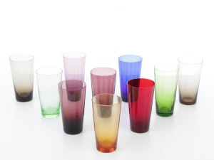 Mid-Century modern scandinavian colored glasses