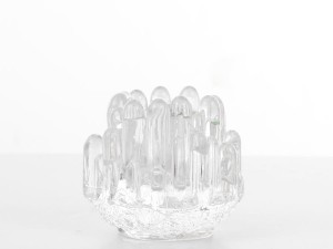 Mid-Century modern scandinavian glass candle holder