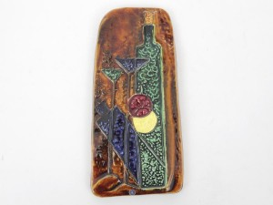 Mid-Century modern scandinavian ceramic relief plaque by Mari Simmulson for Upsala Ekeby