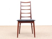 Mid-Century  modern scandinavian set of 4 teak chairs modele Lis  by Niels Koefoed