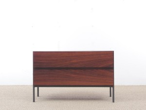 Mid-Century modern small chest of drawers in Rio rosewood by Arne Wahl Iversen