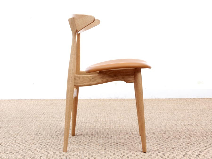 chaise scandinave modle ch 33 assise rembourre edition neuve - Chaise Scandinave Rembourree