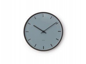 Arne Jacobsen Royal City Hall WALL CLOCK Anodised aluminium and royal blue, Ø 21 cm