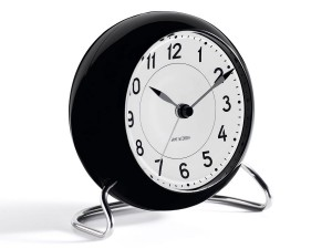 Arne Jacobsen Station Table Clock - black/white
