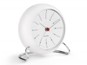 Arne Jacobsen Station Table Clock - white/white