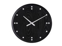 Wall clock by Finn Juhl for UN Building. Black 35 cm. New release.