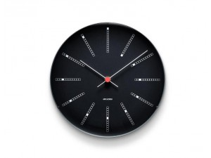 Arne Jacobsen - Bankers Wall Clock, black, ø 29 cm