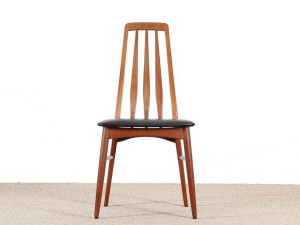 Mid-Century  modern scandinavian set of 4 teak chairs modele Eva  by Niels Koefoed.