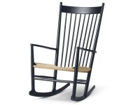 Mid-Century  modern scandinavian rocking chair model J16 by Hans Wegner for Fredericia. New edition