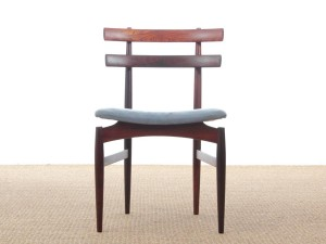 Mid-Century Modern Danish set of 6 chairs in Rio rosewood by Poul Hundevad
