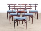 Mid-Century Modern Danish set of 4 chairs in Rio rosewood by Poul Hundevad