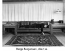 Danish three-seater leather sofa, designed by Børge Mogensen (10 colors)