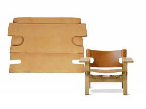 Complete set of leather  for Spanish Easy Chair 2226 by Borge Mogensen.