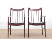 Mid-Century  modern scandinavian pair of armchairs by Arne Vodder