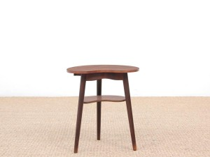 Mid-Century  modern scandinavian occasional table in Rio rosewood
