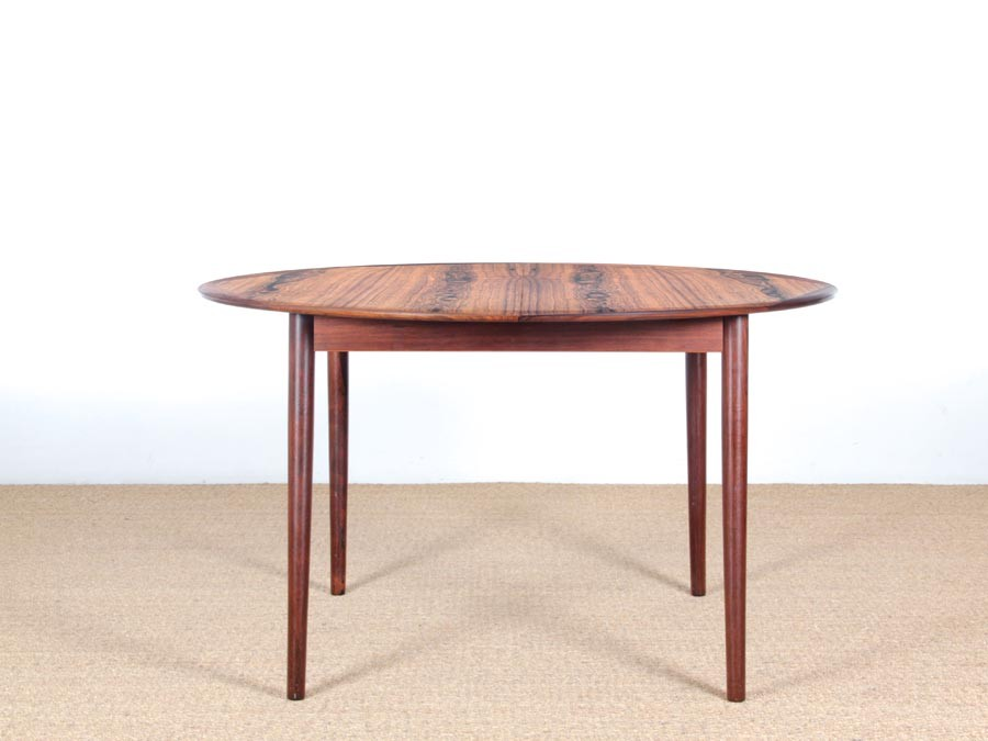 Mid Century Modern Danish Extendable Round Dining Table In Rio Rosewood Galerie Mobler