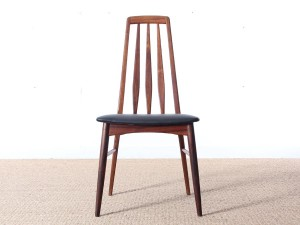 Mid-Century Modern Danish set of 8 chairs in Rio rosewood model Eva by Niels Kofoed