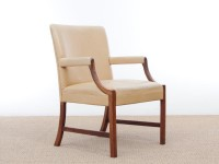 Mid-Century Modern arm chair by Ole Wanscher in Rio rosewood