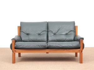 Two-seat sofa by Pierre Chapo model S22
