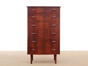 Mid-Century  modern scandinavian chest of drawers in Rio rosewood