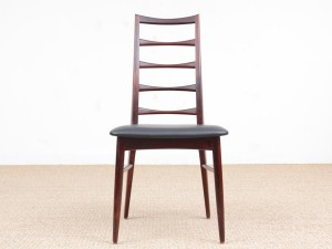 Mid-Century  modern scandinavian set of 4 rosewood chairs model Lis by Niels Koefoed.