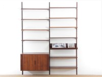 Mid-Century  modern scandinavian wall system in rosewood by Kai Kristiansen