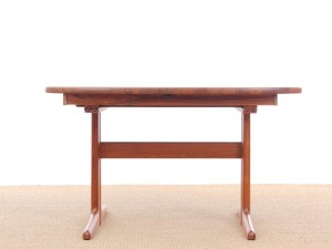 Mid-Century  modern scandinavian dining table in teak 4/10 seats