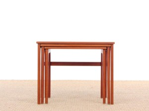 Mid-Century  modern scandinavian nesting tables in teak