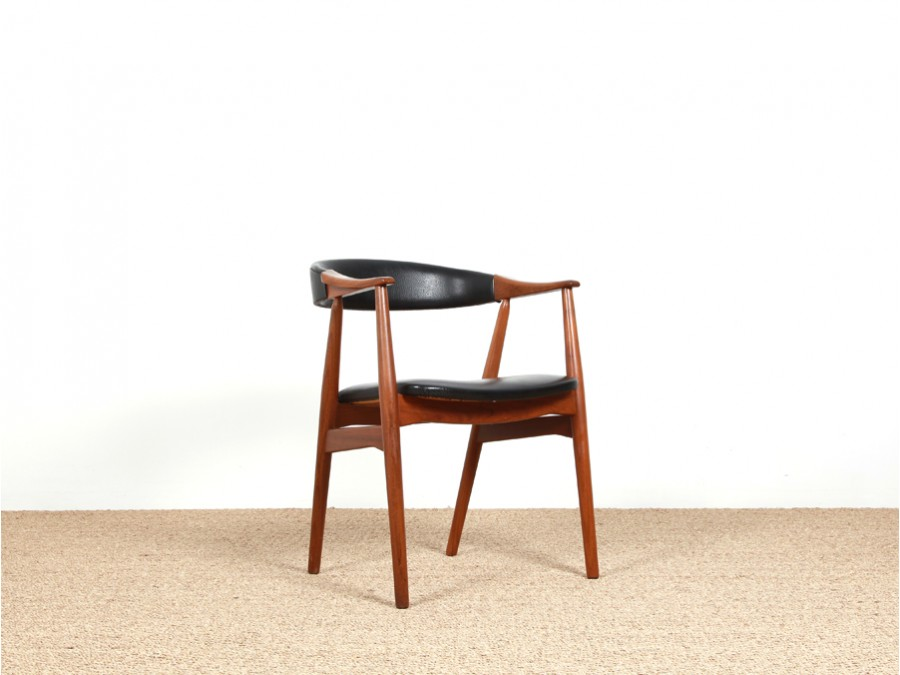 Scandinavian Desk Chair In Teak Model 213