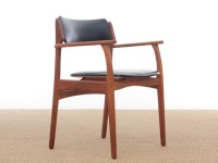 Mid-Century  modern scandinavian arm chair in teak by Erik Buck